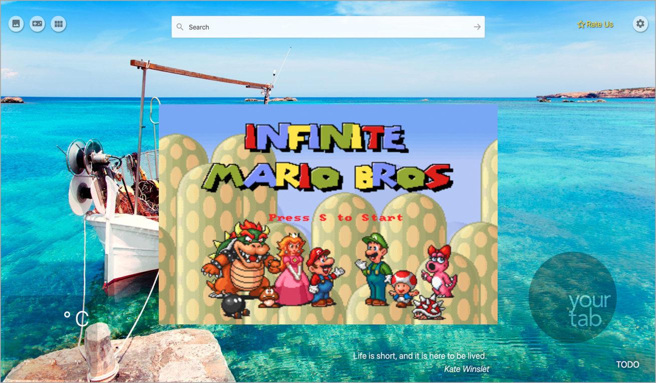 Classic Super Mario Game NewTab