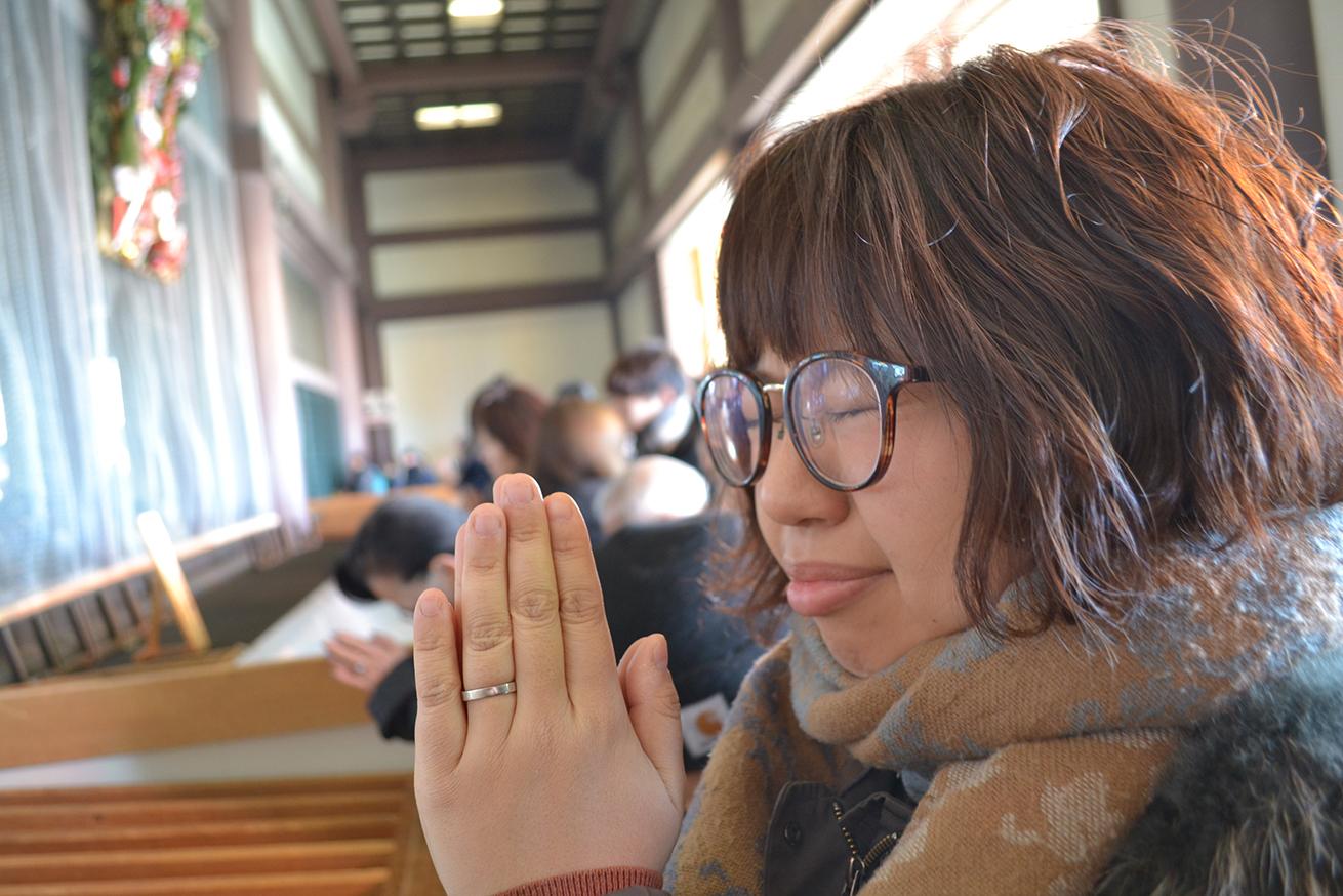西新井大師本堂で初詣をするたびちん