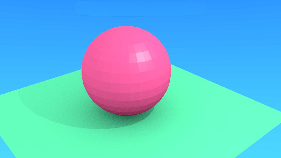 Blenderで全てに彩りを追加したレンダリング