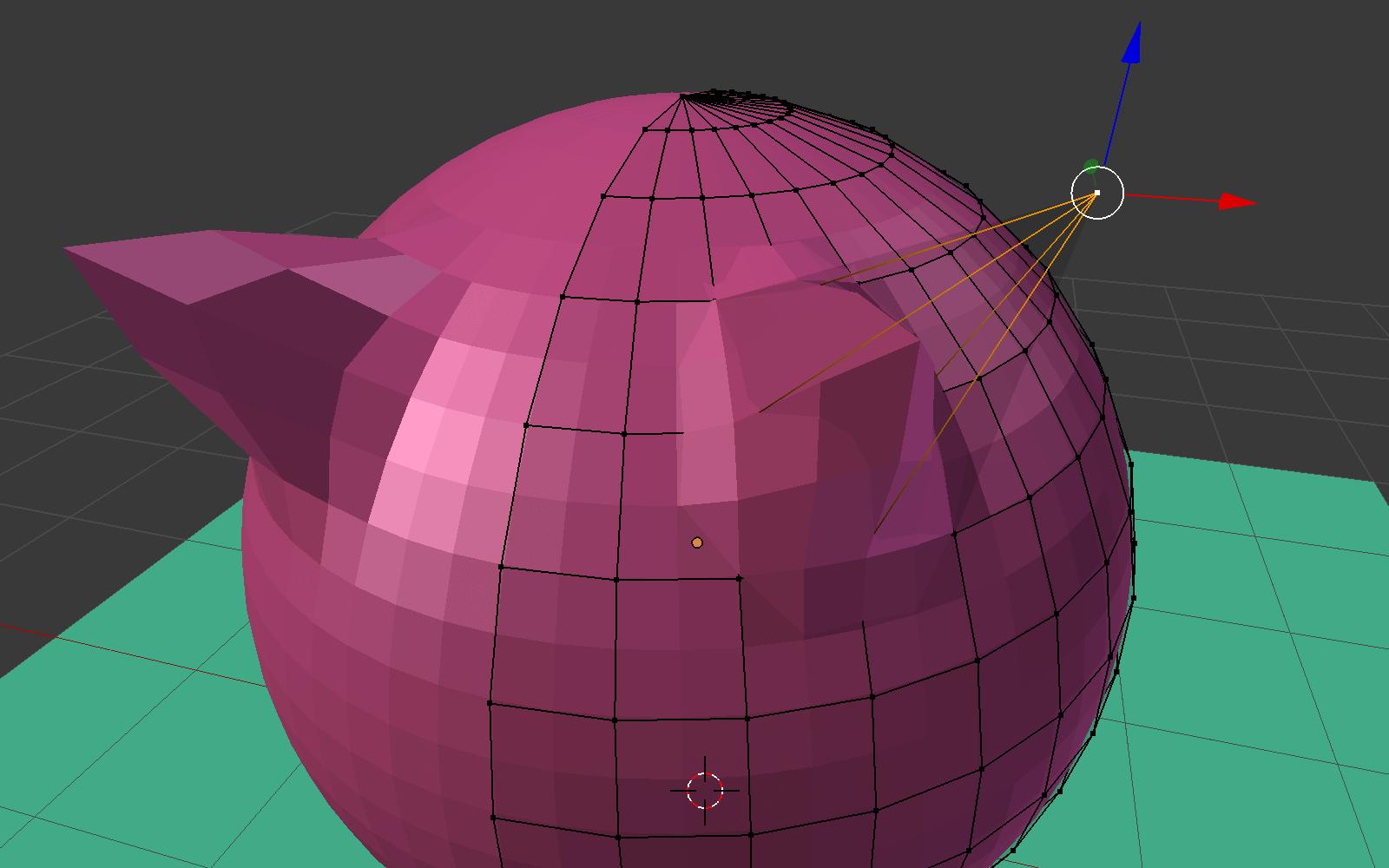 Blenderのモディファイアのミラーを適応したモデル