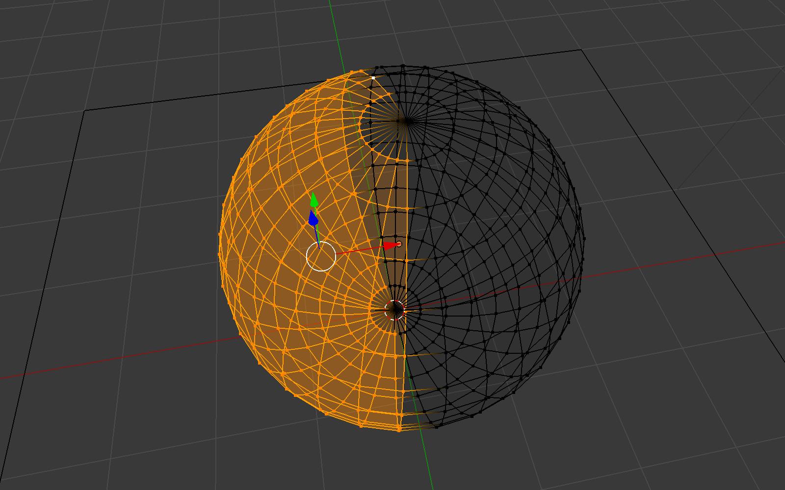 Blenderのワイヤーフレームシェーディングの表示