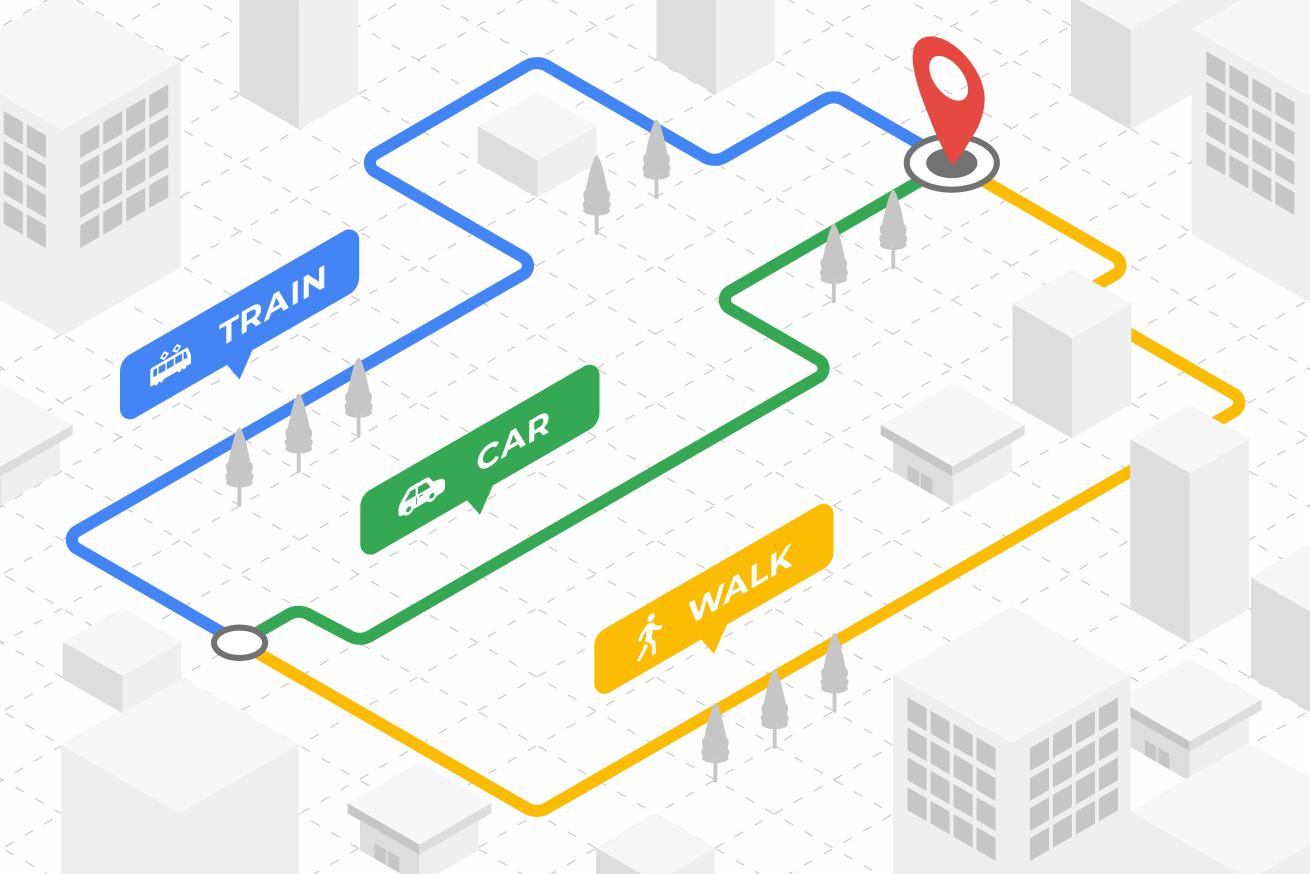 Google Maps URLで現在地からのルートを「交通手段別」で作る