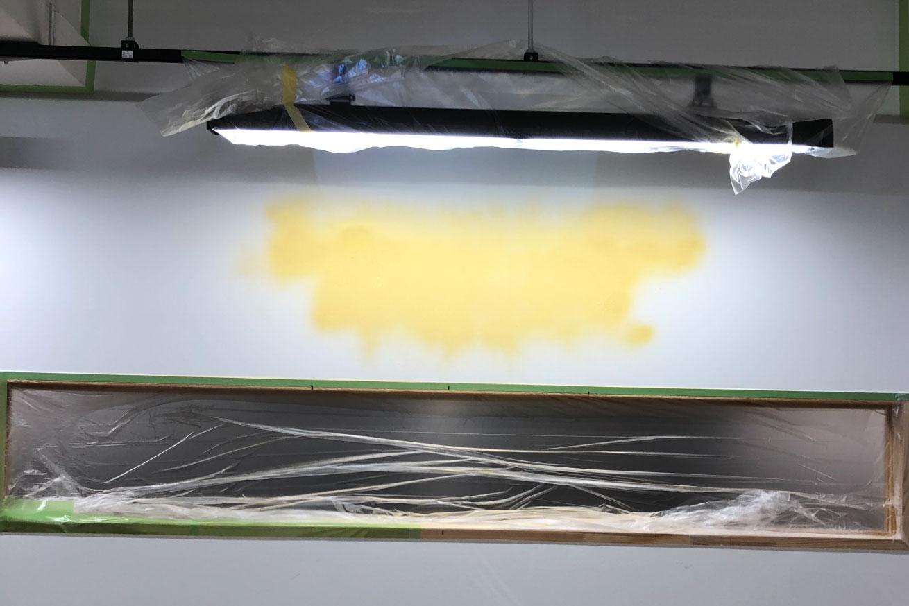 お部屋の用途に合わせた図案作成。LIGの壁画制作《デジタルハリウッド 壁画》