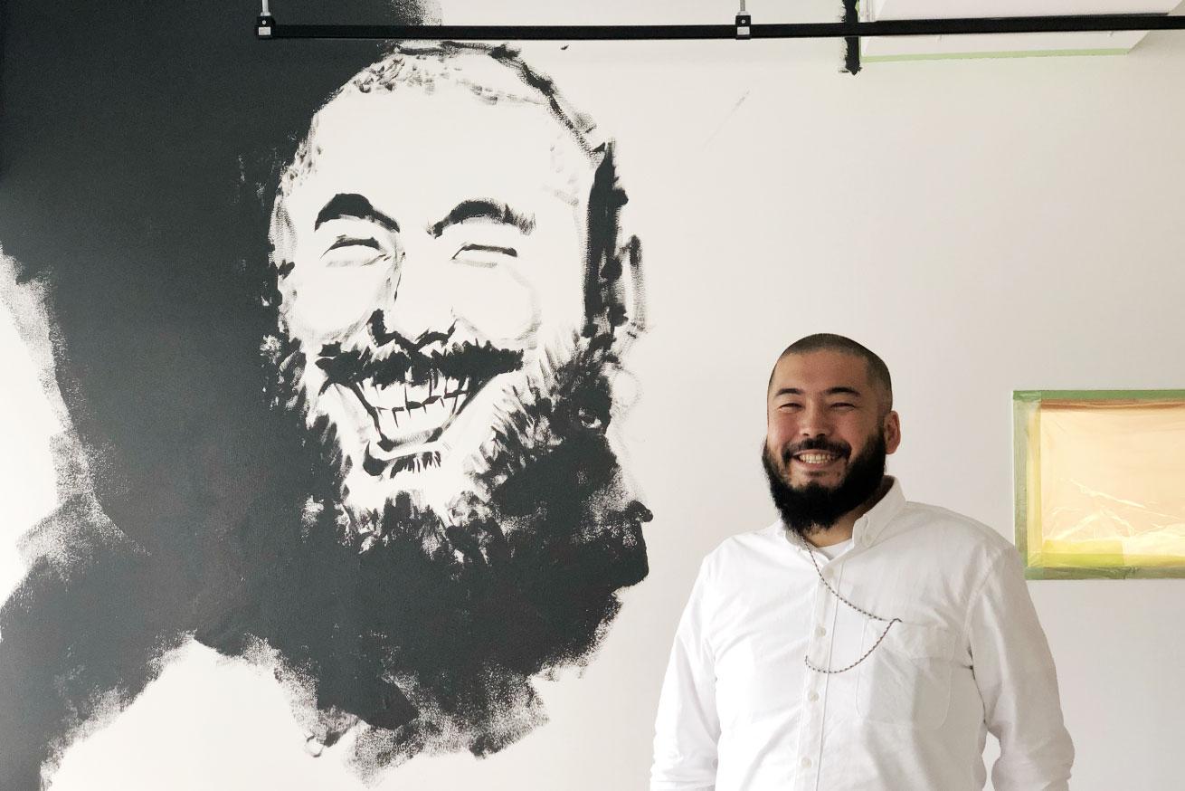 壁画に似顔絵イラスト:ガクさん