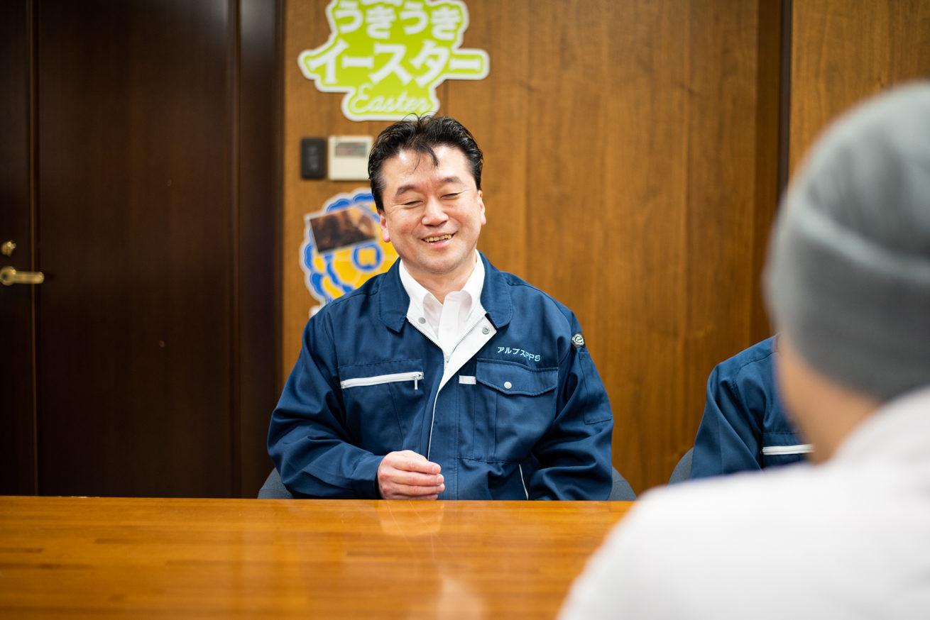 笑顔の羽田さん