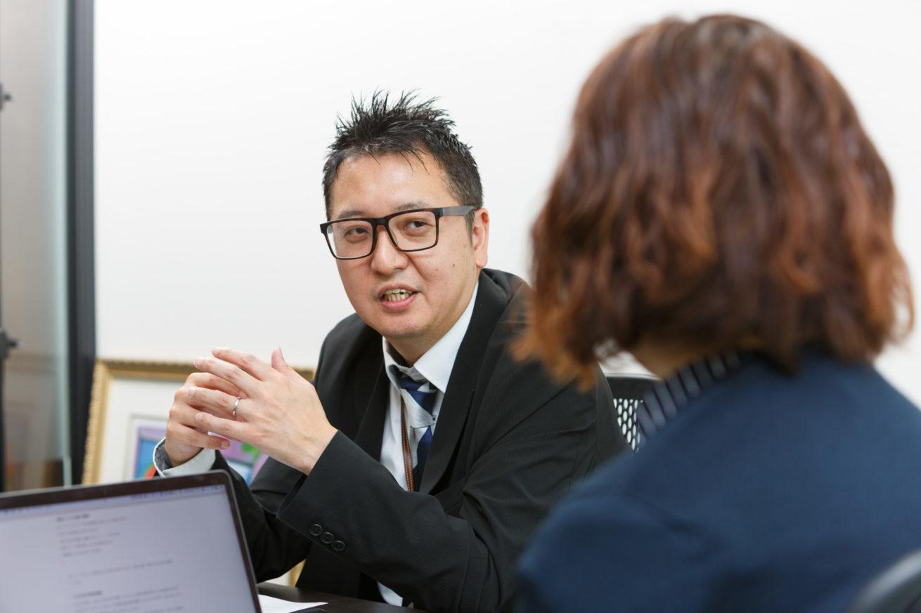 たびちんと石崎さんが会話している様子