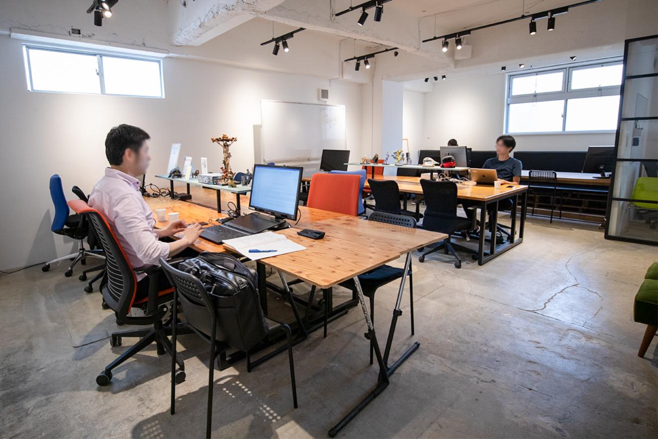 いいオフィスの集中スペース