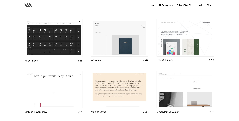 Siiimpleのギャラリーサイトのトップページ画像