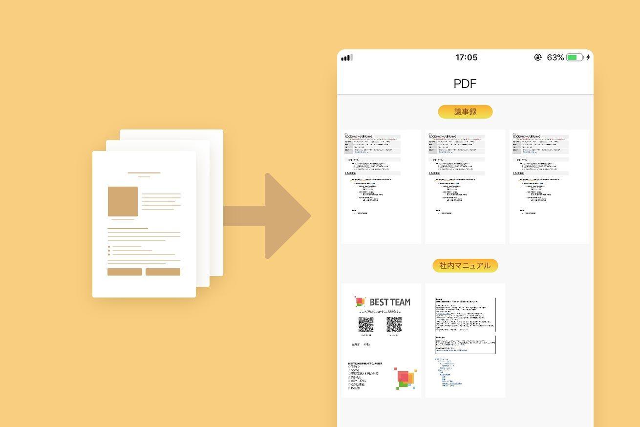PDF機能画面