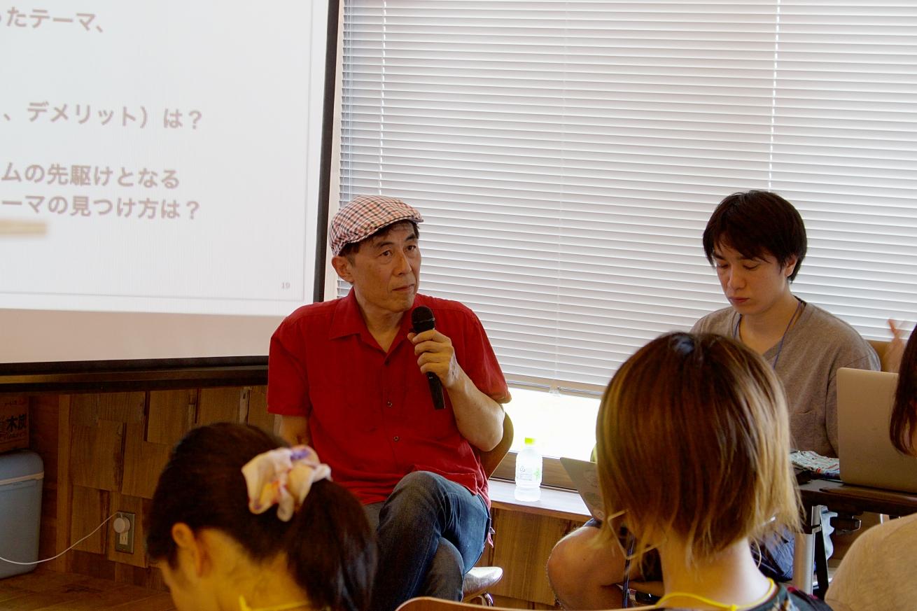信濃町ライター講座で話す北尾トロさん