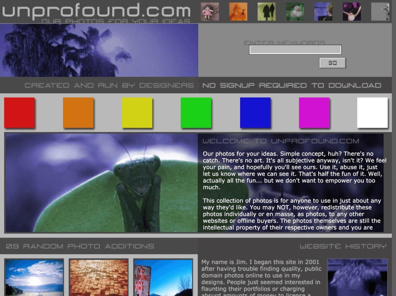 「unprofound」のサイトイメージ画像