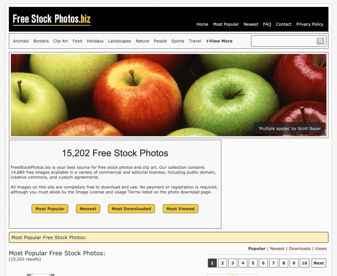 「Freestockphotos」のサイトイメージ画像