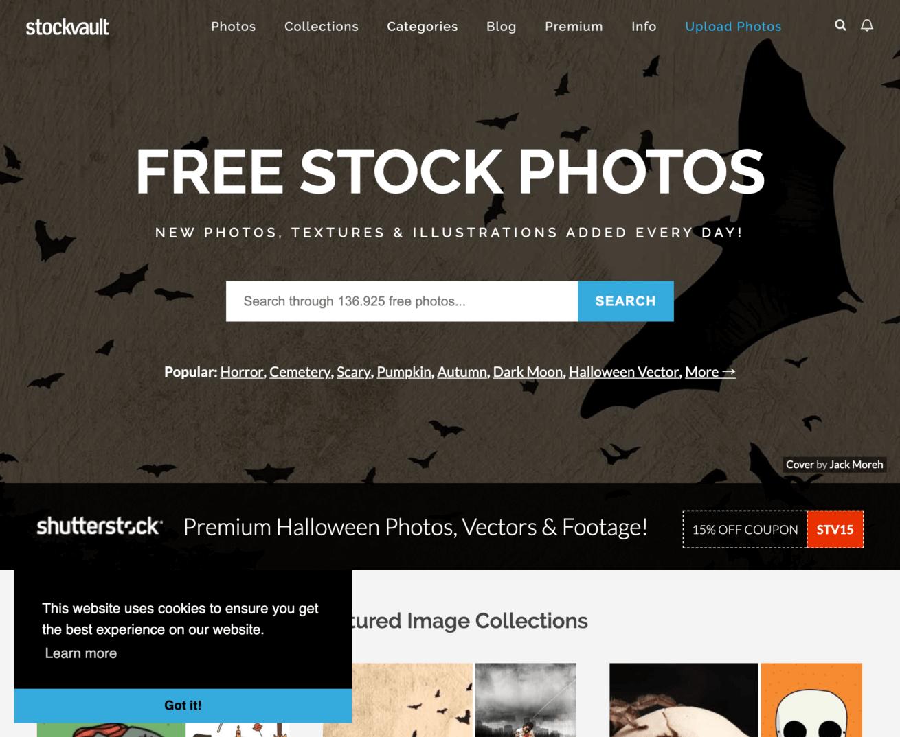 「Stockvault」のサイトイメージ画像