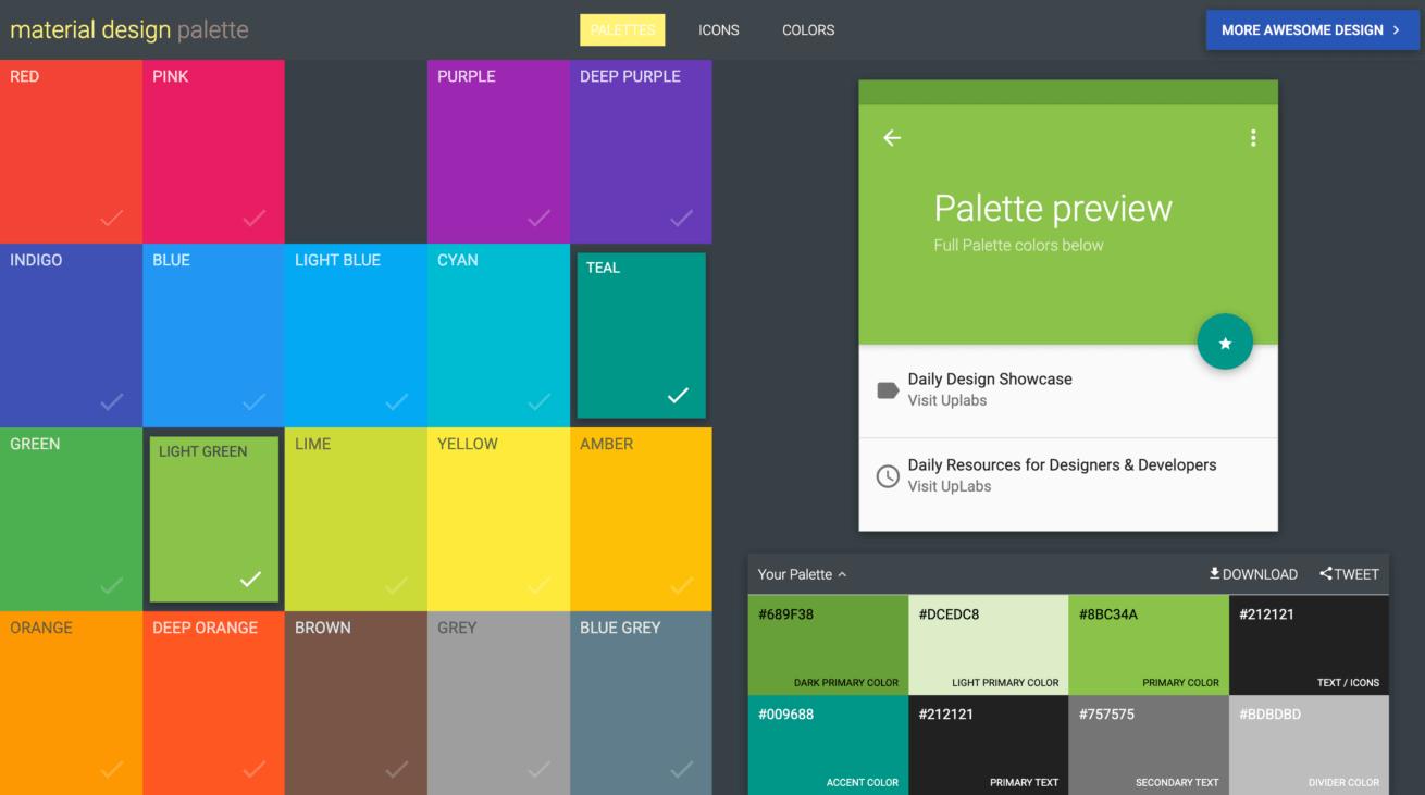 「Material Design」サイトのイメージ画像