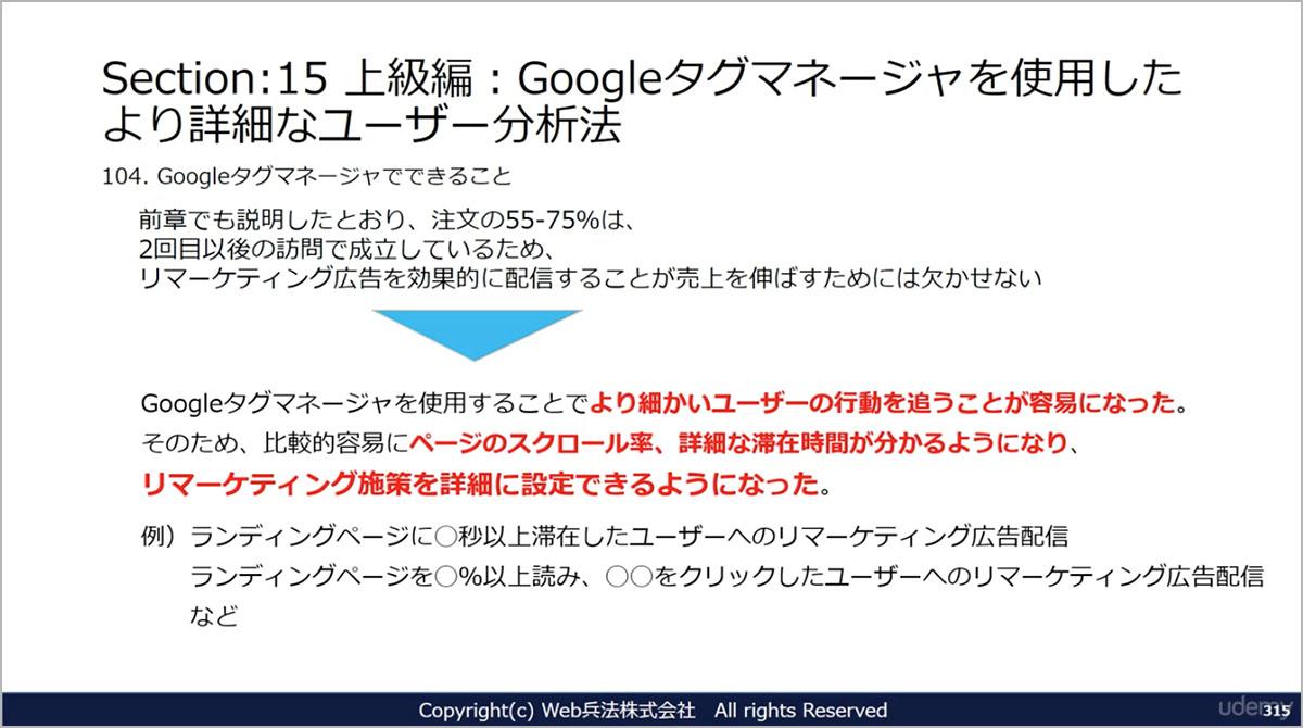 「Googleタグマネージャを使用したより詳細なユーザー分析法」キャプチャ