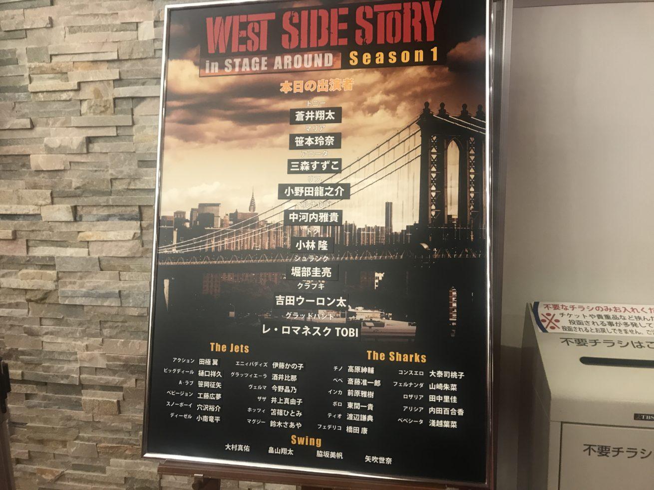 ウエストサイドストーリーキャスト表