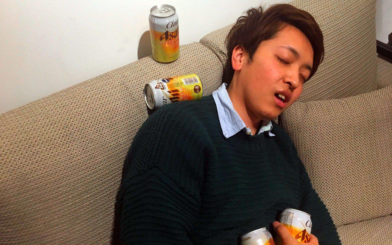 ビールを飲みすぎたバンビくん