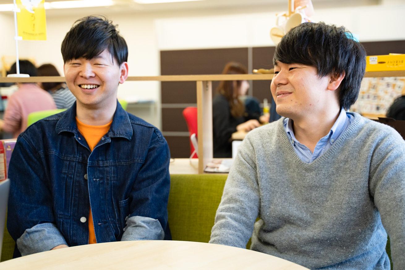 笑顔の古川さんと橋口さん