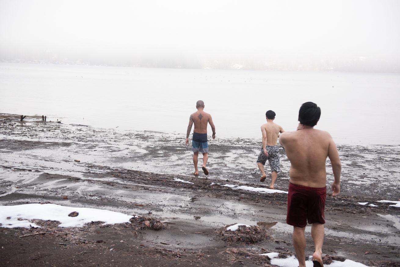 真冬の野尻湖