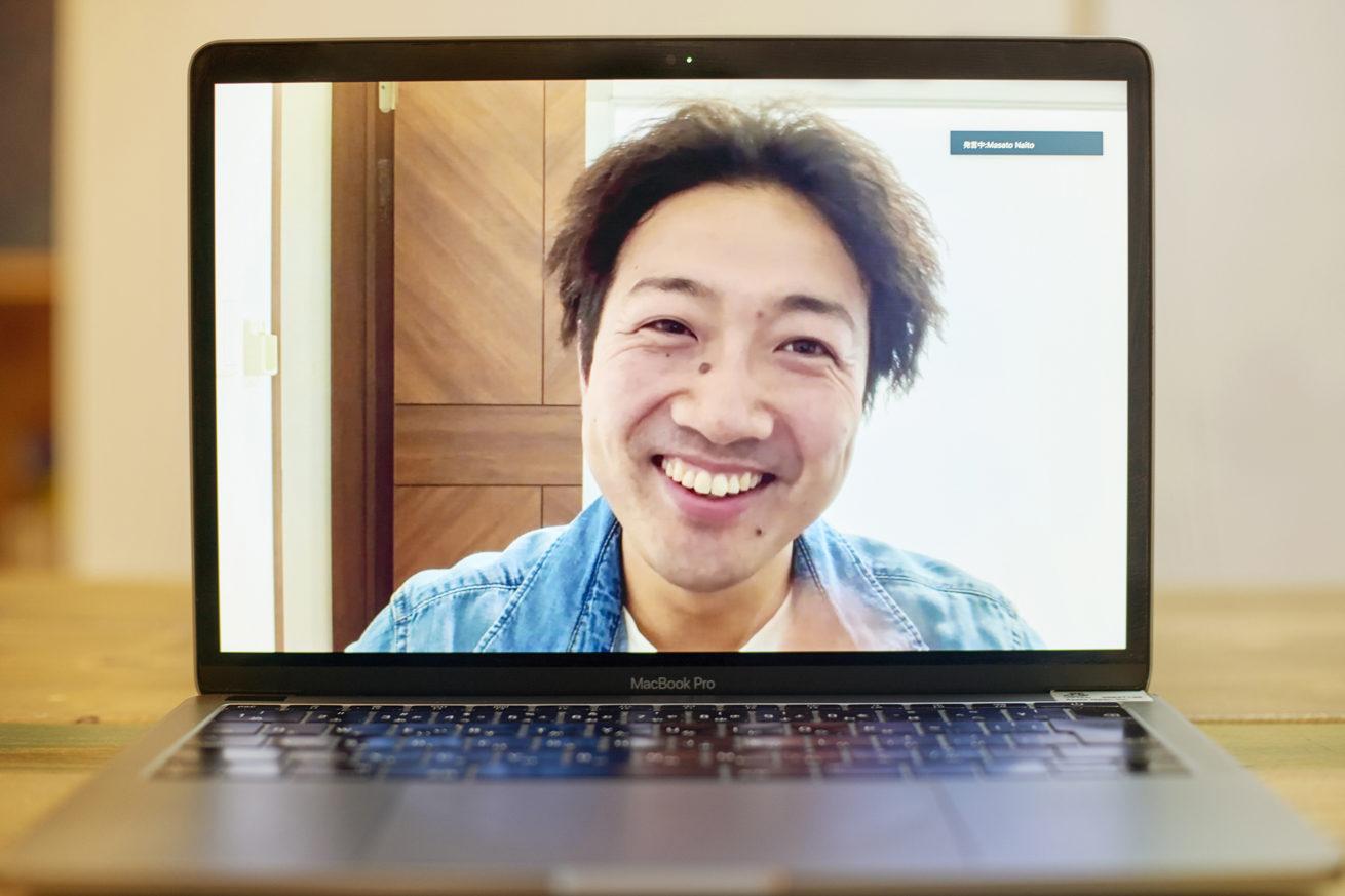 満面の笑みを浮かべる内藤さん