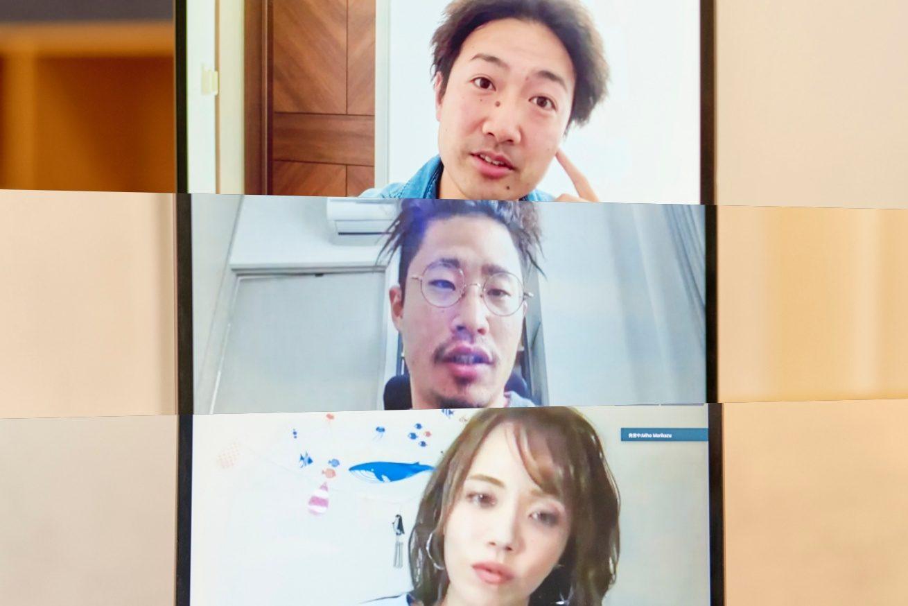 上から内藤さん、中央あきと、下段森数さんが一枚になった写真