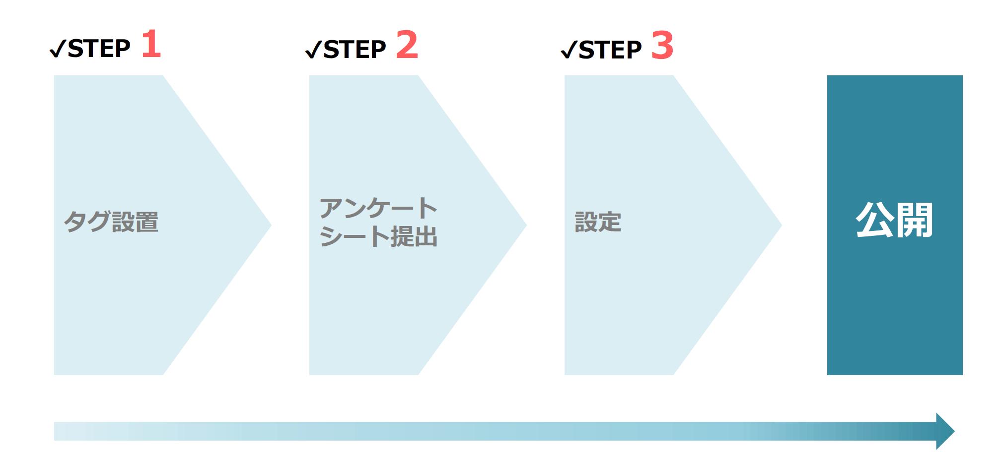公開までの3STEP