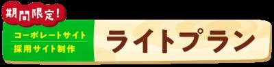 【期間限定】コーポレートサイト/採用サイト制作ライトプラン