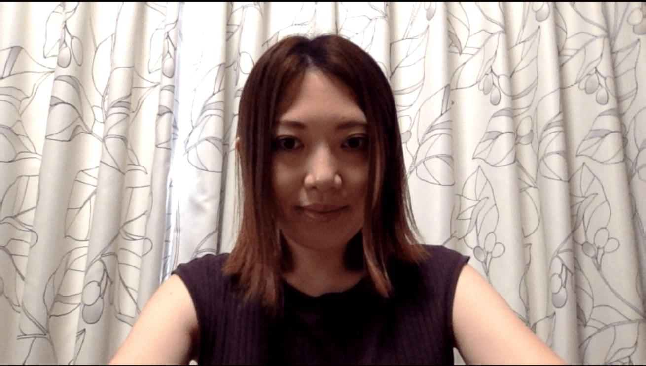 WEB会議画面の村尾さん