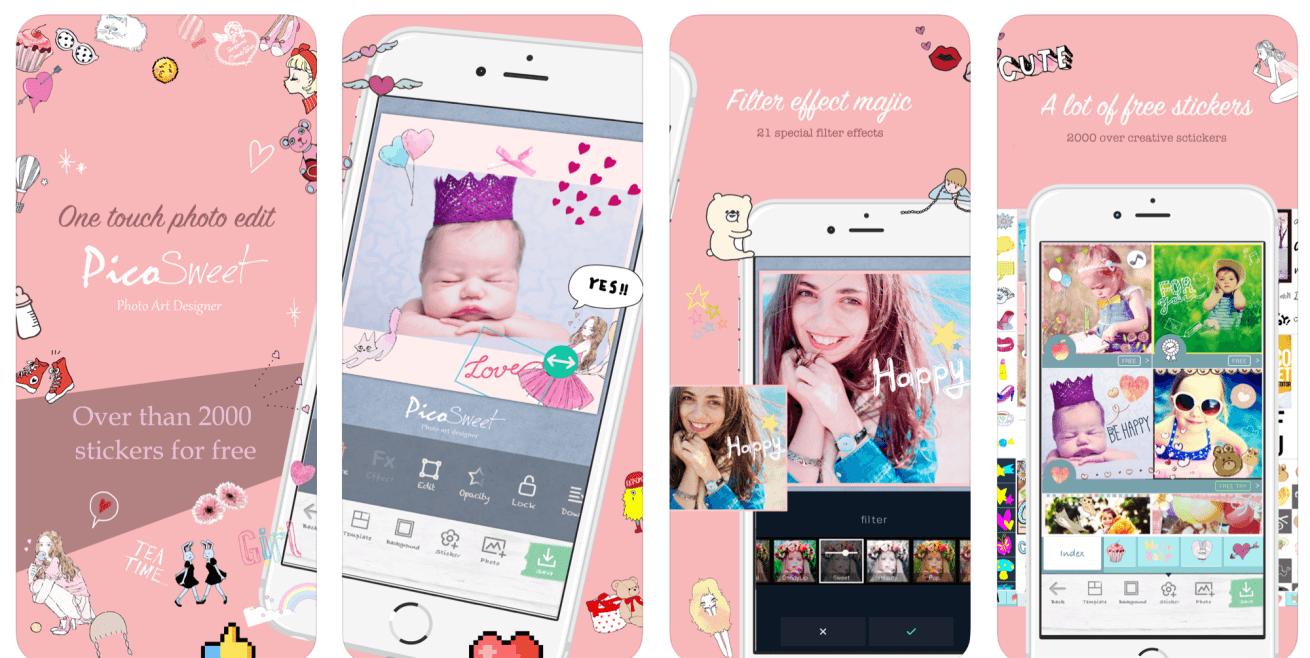 カメラアプリ「Pico Sweet」のイメージ画像