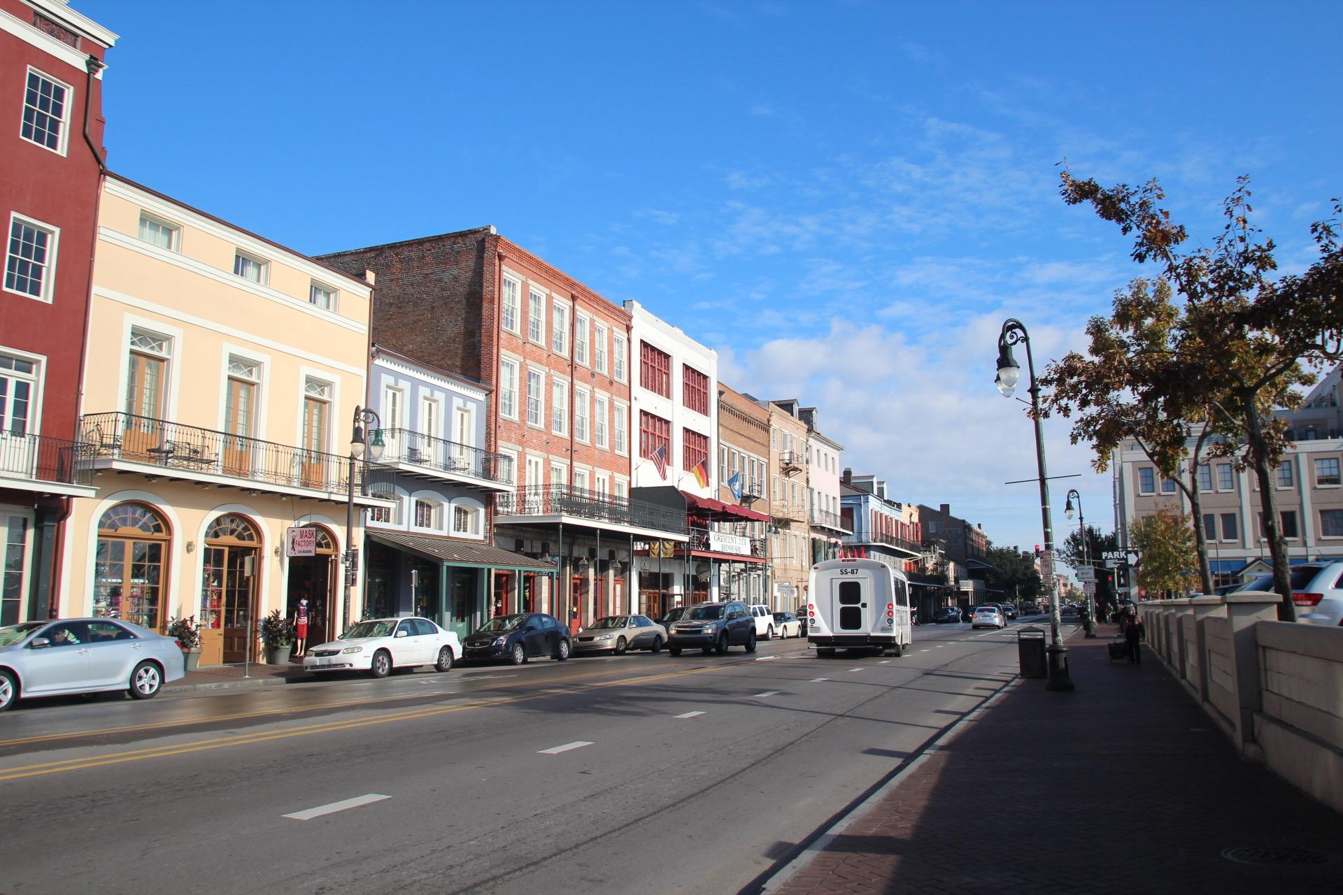 ルイジアナ州・ニューオーリンズの街並み