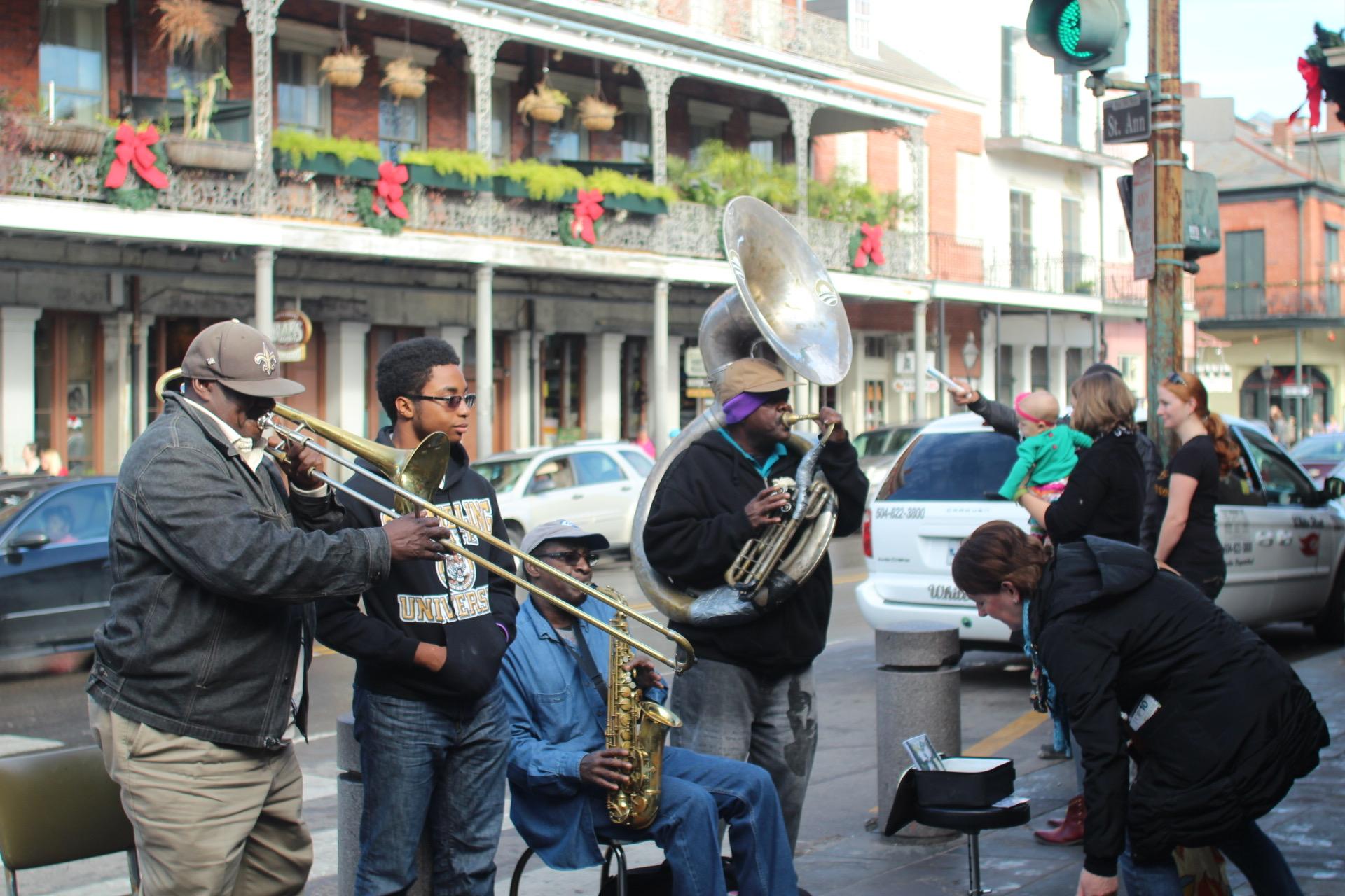 ニューオーリンズのストリートミュージシャン