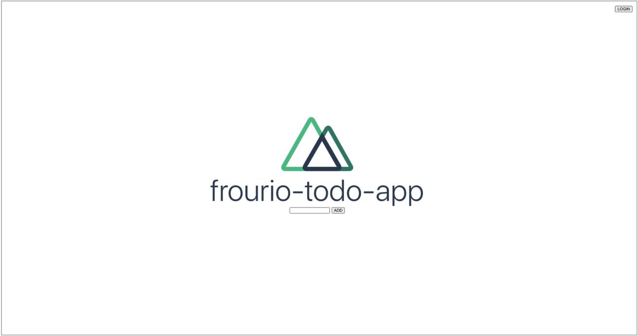 frourio-todo-appと書かれたスクリーンショット
