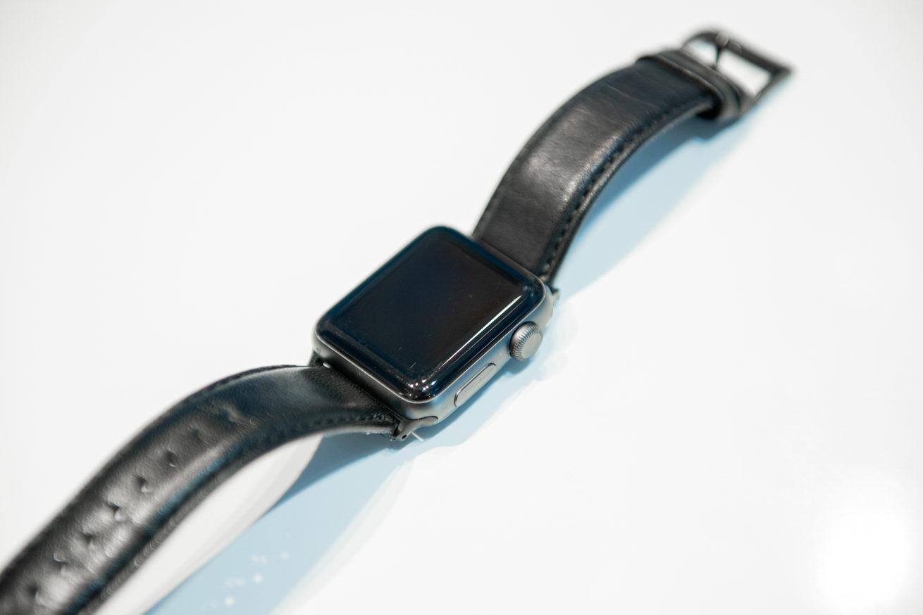 Apple Watchのコーティングが完了した写真