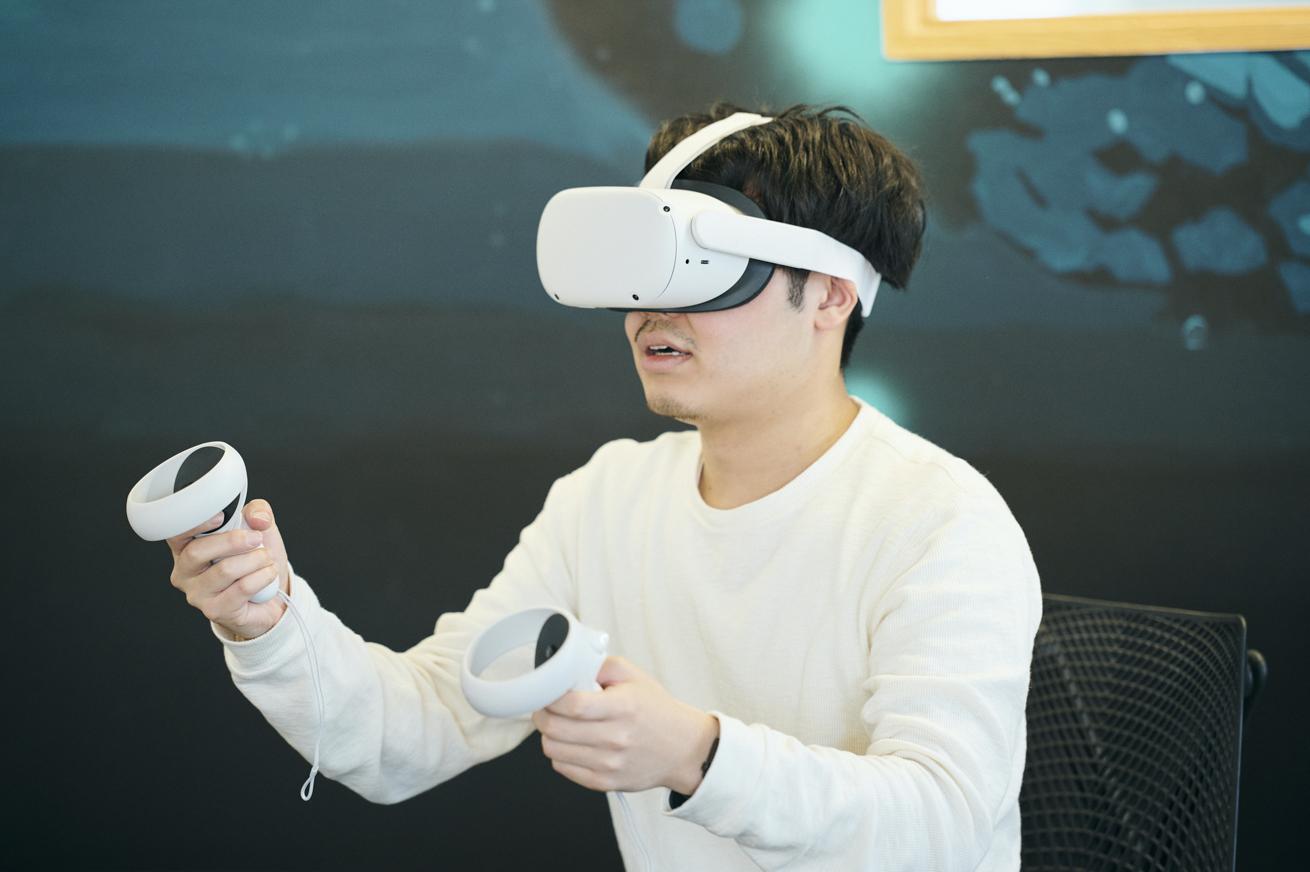 Oculus Quest2で受講するかける
