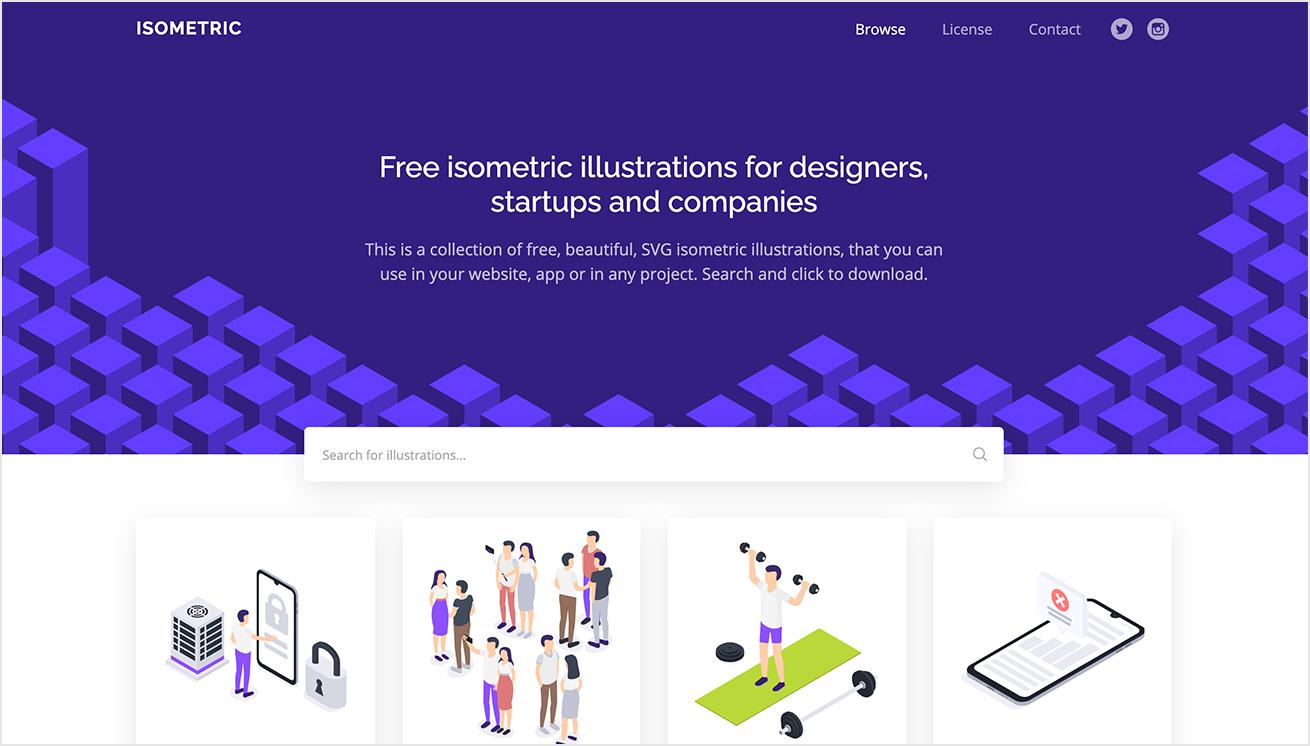ISOMETRICのトップページの画像