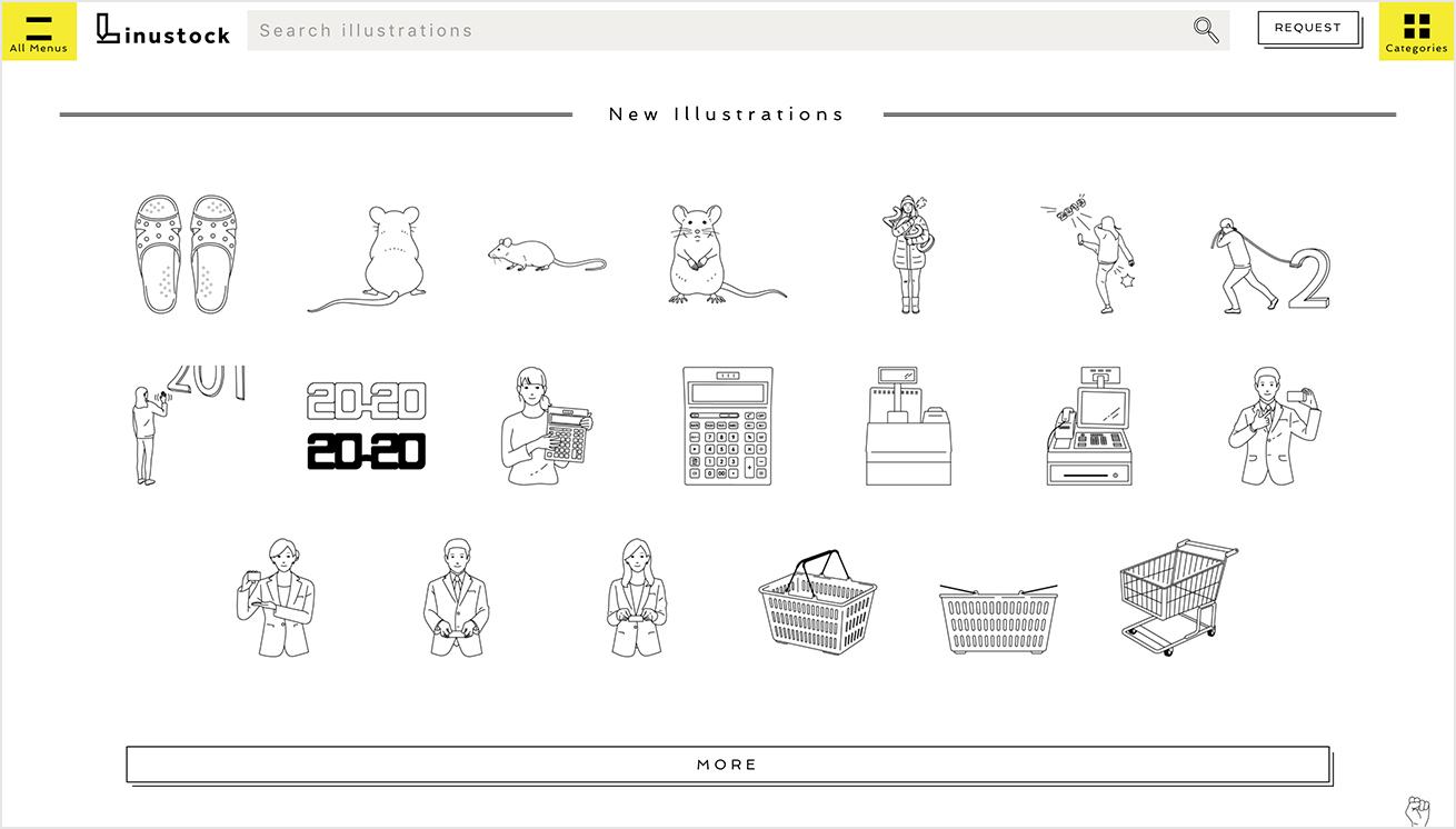 Linustockのトップページの画像