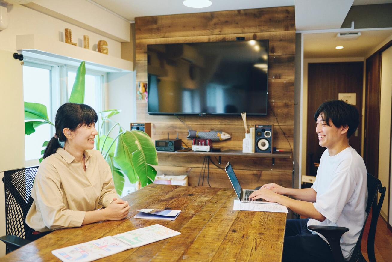 世界一周を達成したろう者・田原さんインタビュー風景